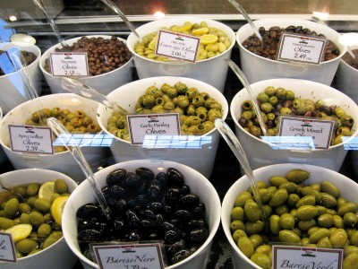 Olives at Zara's Italian Deli