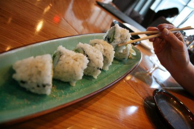 With celebrity chef Hidekazu Tojo at the helm, Tojo's restaurant serves upscale sushi dishes.
