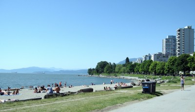 English Bay Beach, at Beach Ave & Denman Street