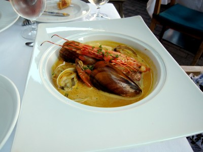 Blue Water Cafe's bouillabaisse