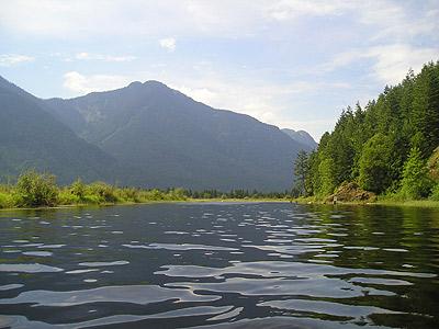 The scenic view of Widgeon Creek