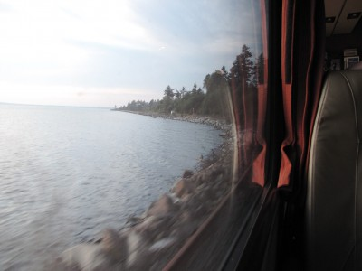On board the Amtrak Cascades from Vancouver to Seattle; Photo © KC  Lynch