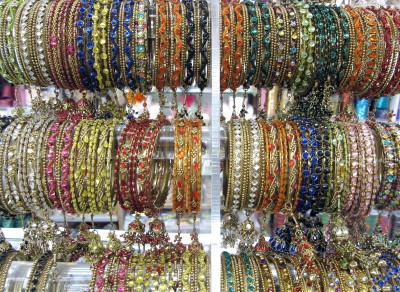 Bangles galore at Palika Gift House in the Punjabi Market, Vancouver