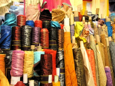 A tiny taste of the fabrics at Guru Bazaar in Punjabi Market