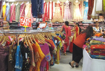 Inside Guru Bazaar Sarees & Fabrics, Punjabi Market, Vancouver