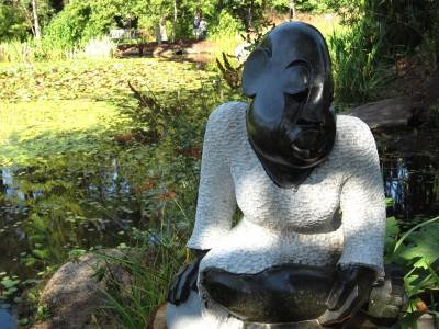 Square Chikwanda, Seated Girl, Opal Stone
