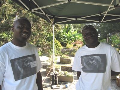 Zimbabwean sculptors Patrick Sephani and Passmore Mupindiko