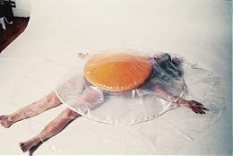 Carole Itter, Raw Egg Costume, 1974