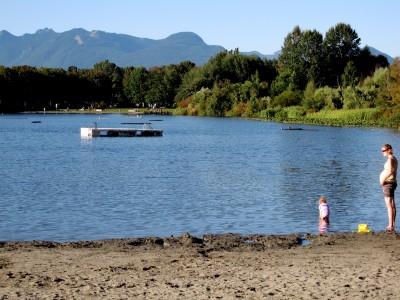 Trout Lake's mini beach