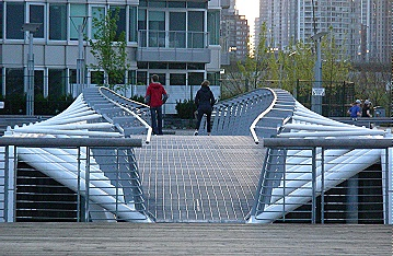 Pedestrian bridge. Olympic and ParaOlympic Village. May 2010