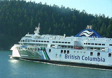B.C. Ferry with 2010 Olympic markings. Photo by J. Chong