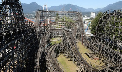 Best Ever The Wooden Roller Coaster At The Pne Inside Vancouver