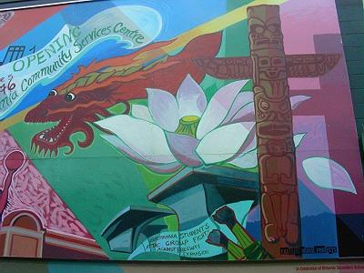 2008 mural back of Britannia Community Centre.