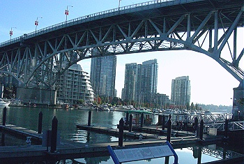 Granville Bridge. From Granville Market looking towards North False Creek. Vancouver, BC 2010. Photo by J. Chong
