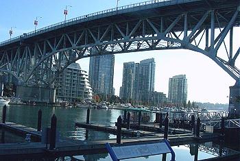 Granville Bridge. From Granville Market looking towards North False Creek. Vancouver, BC 2010. Photo by J. Chong