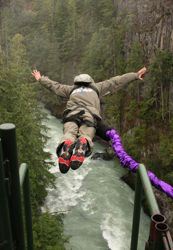 Bungee jumping in Whistler. Photo: