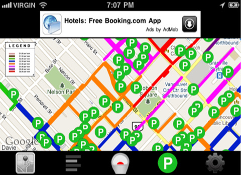 Free Vancouver Park 'in' Spot App