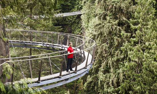 featured attraction of the week: capilano suspension bridge (free