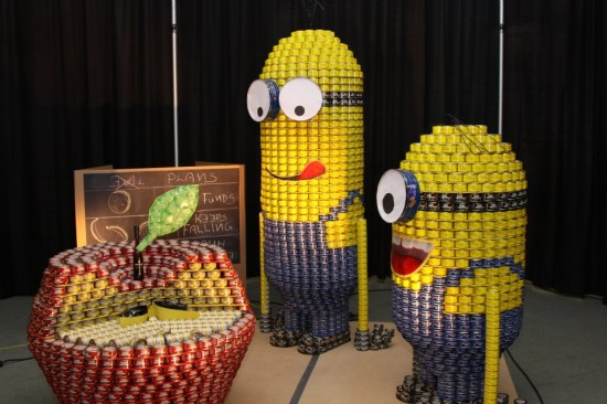 canstruction vancouver 2012 incredible can art fundraiser for the