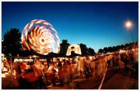 Carnival rides at the Richmond Night Market. Photo: Target Event Production