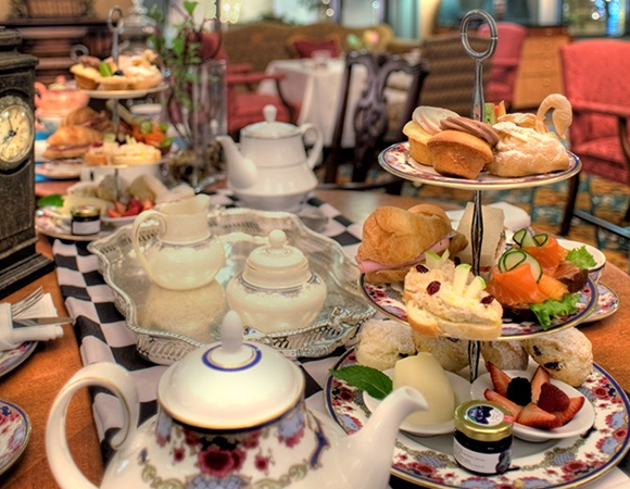Afternoon Tea at the Castle at the Fairmont Hotel Vancouver. Photo: MB Digital / Air Canada enRoute