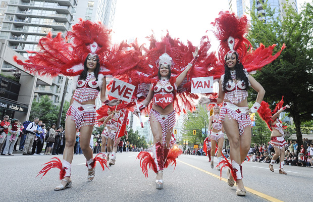 Vancouver's Canada Day Parade. Photo: Stuart Davis, PNG via The Province