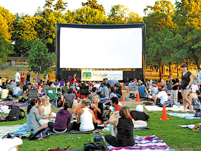 Summer movies in Stanley Park. Photo: Metro News