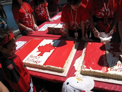 Cake at the Official Canada Day Ceremony on Granville Island. Photo: Dana Lynch