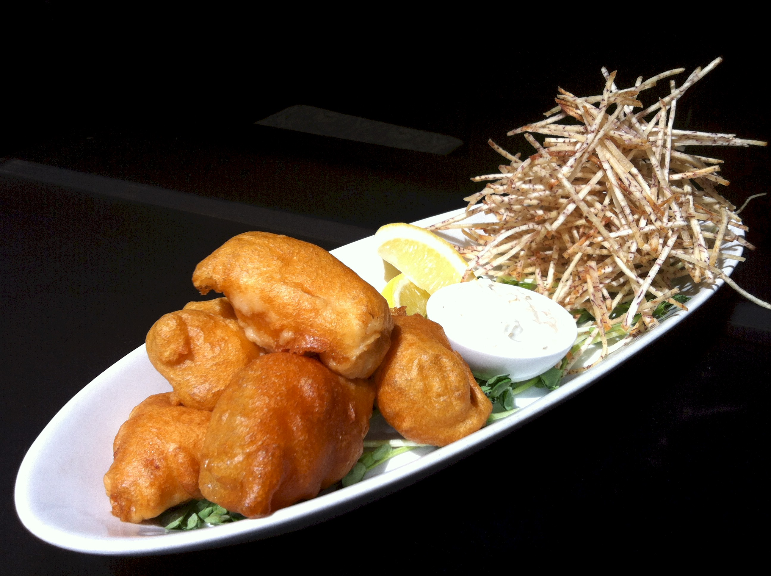 Chinese Fish 'n Chips at Wild Rice. Photo: A. Wong / Wild Rice