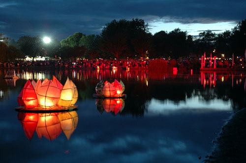 Illuminares Lanterns at Trout Lake. Photo: Public Dreams