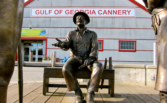 Statue outside of the Gulf of Georgia Cannery, Steveston BC
