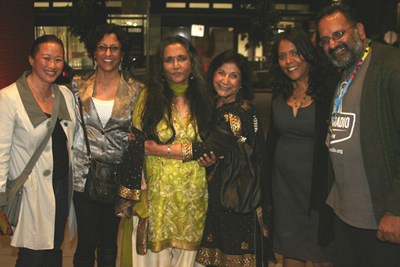 Deepa Mehta with friends. Photo Credit: Neil Russell Tan