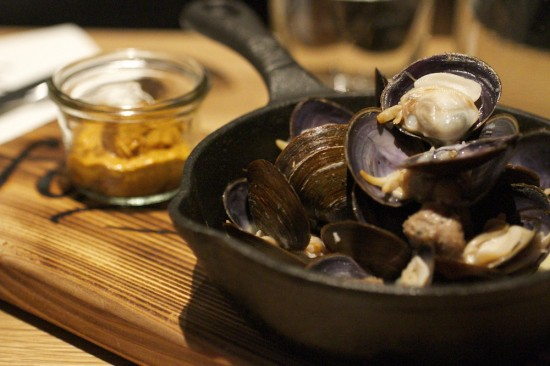 The savoury clams at Forage Restaurant. Photo credit: Robyn Hanson