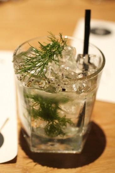 Savoury cocktail at Forage