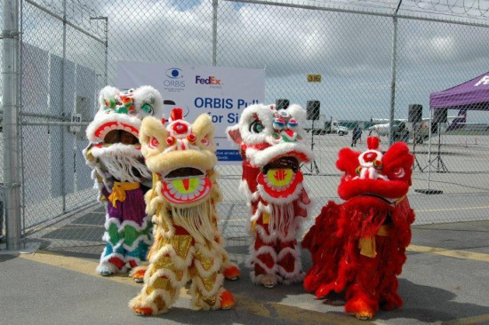 Lion dancers. Photos credit: Vancouver Chinese Lion & Dragon Dance Team