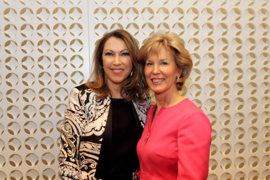 Holt Renfrew Vice President Fashion Editor Lisa Tant and Dana Hall, Holt Renfrew Vice President Sales and Service, GM Vancouver.