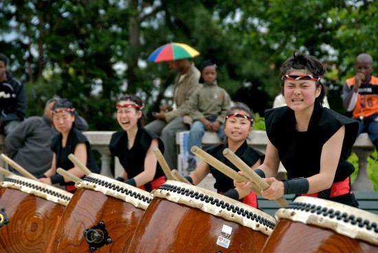 Taiko drummers. Photo: Flickr user cking