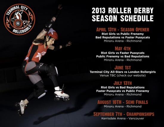 Season schedule for newsletter