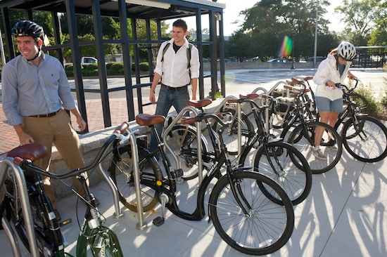 An example of a bike station.  Photo credit: Bike GT | Flickr