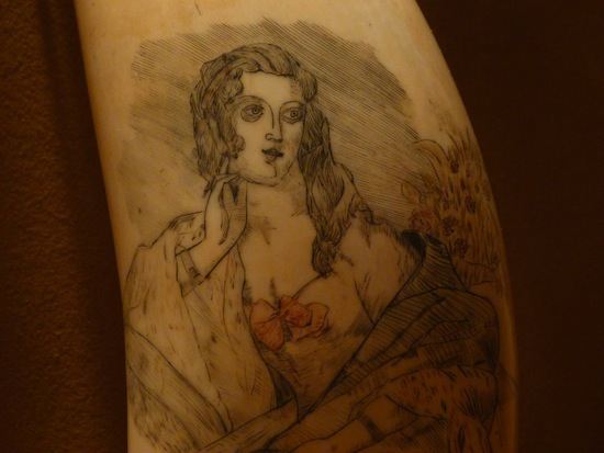 An example of scrimshaw art.  Photo credit: Rusty Clark | Flickr
