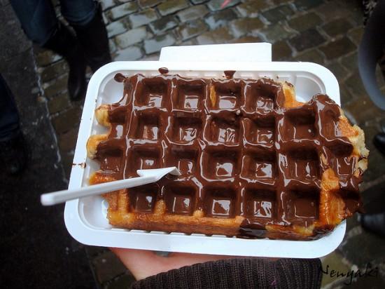 Belgian waffle. Photo credit: Nenyaki