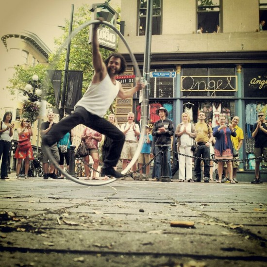 Vancouver International Busker Festival. Photo credit: Vancouver Busker Fest