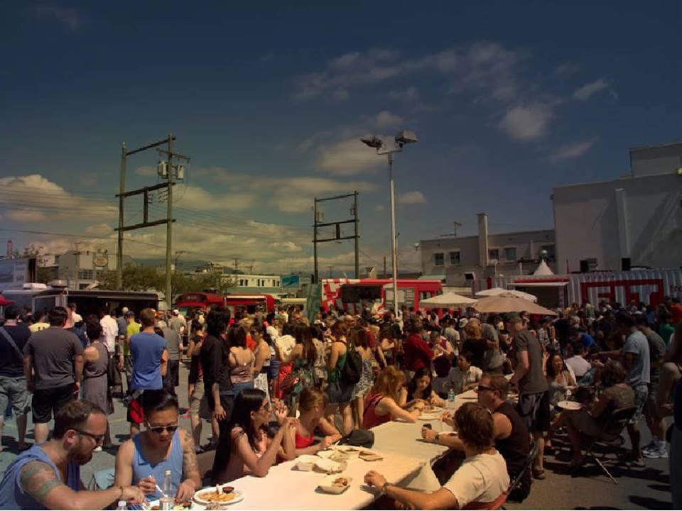 Outdoor flea market joins the vancouver food truck fest inside