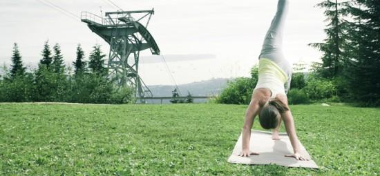 Grouse mountain free yoga 2013