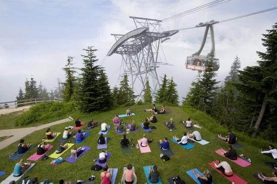 free yoga grouse mountain