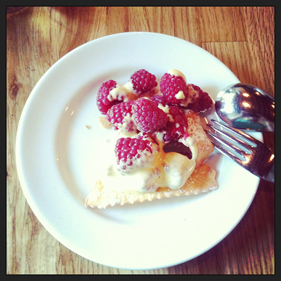 Berry dessert at Campagnolo Market Wednesdays Photo credit: Miranda Post