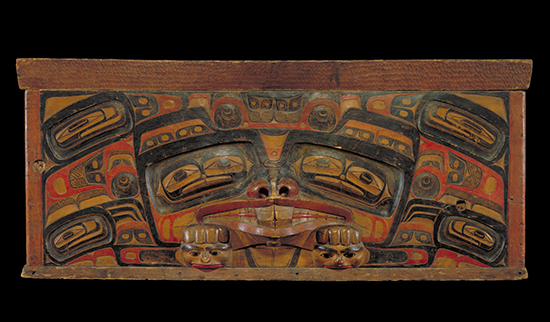 Bentwood chest by Charles Edenshaw, late 19th century Photo credit: Canadian Museum of Civilization