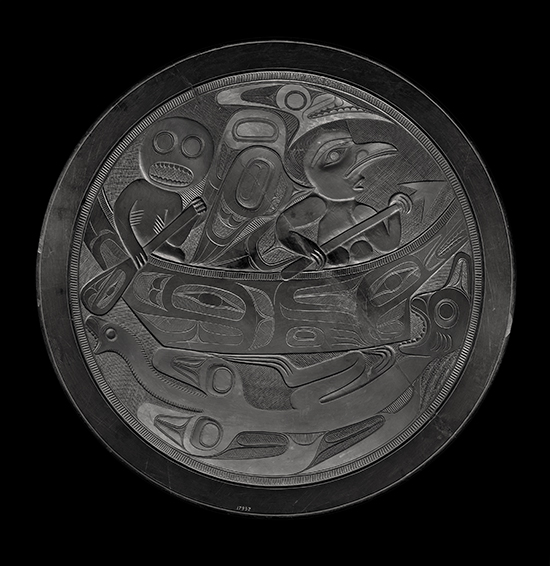 Charles Edenshaw argillite platter, pre-1894 Photo Credit: The Field Museum, Chicago