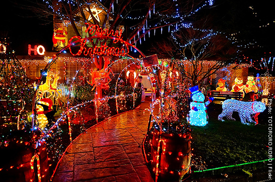 Christmas lights in Vancouver