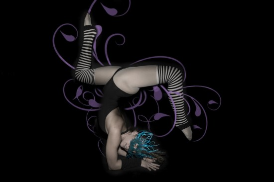 Contortionist Tamsin Linton performs with the High On Life Circus Friday Nov. 8 at Venue. Photo courtesy The Underground Circus.
